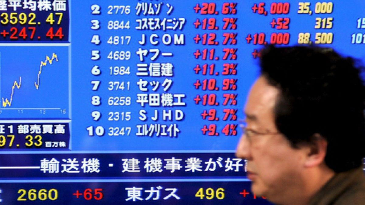 Bolsa de Tokio acentúa sus pérdidas a media jornada