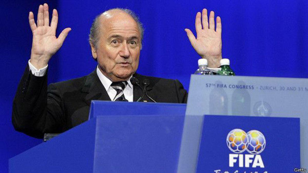 Joseph Blatter denuncia una campaña de odio proveniente de la UEFA