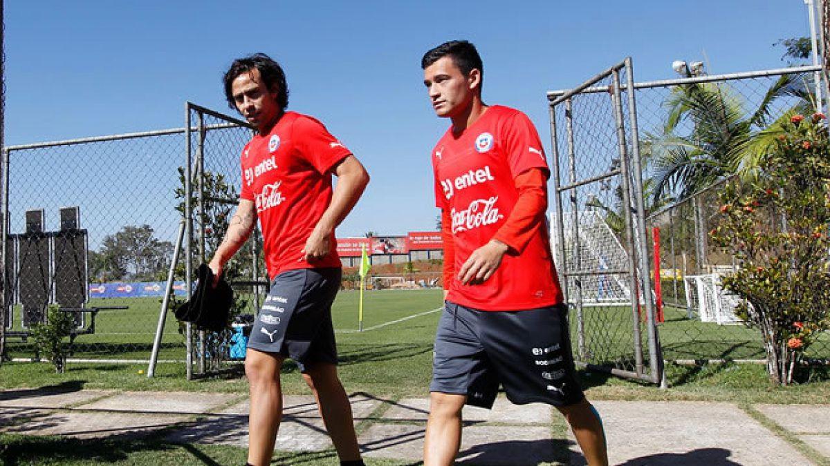 """Ya son 16: Los """"brasileños"""" Jorge Valdivia y Charles Aránguiz se unen a la Selección"""