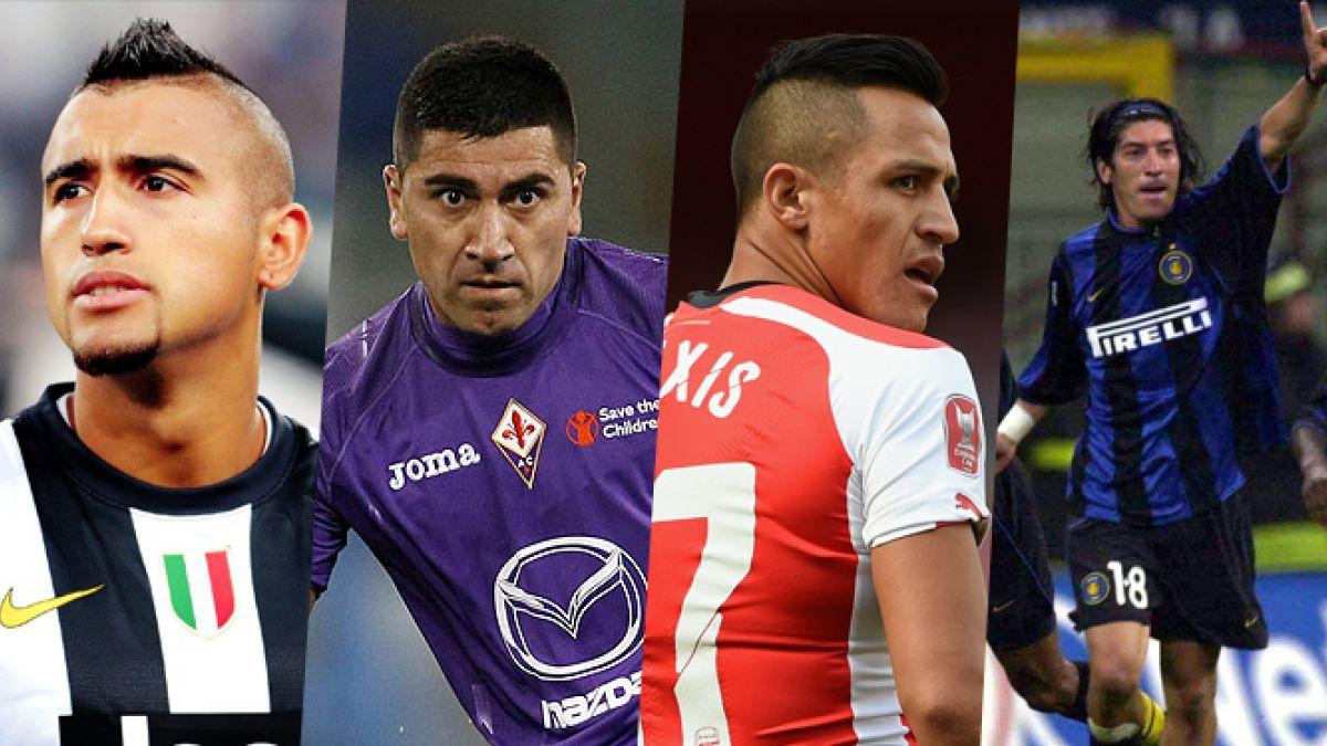 Los futbolistas chilenos con más apariciones y goles en Europa