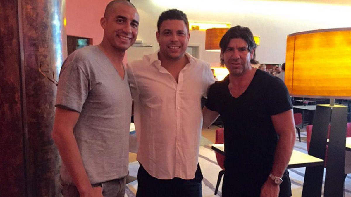 Salas, Ronaldo y Trezeguet juntos en Berlín