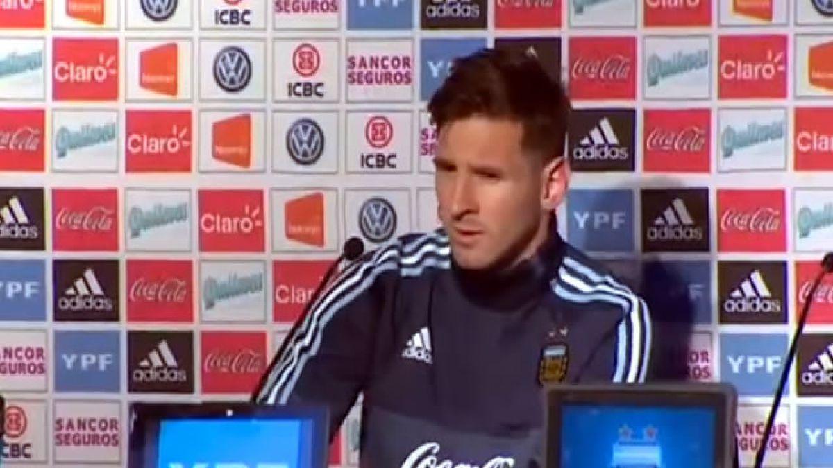Messi alaba a Sampaoli y dice que Chile es el candidato a ganar la Copa