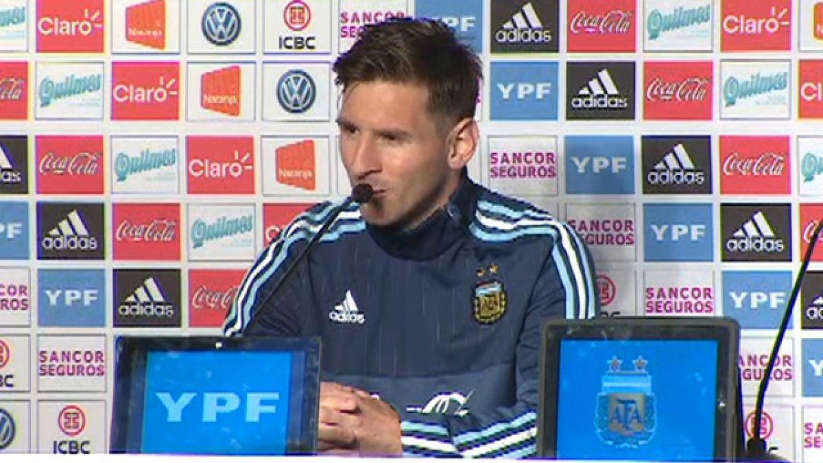 Messi sacó la voz: Revisa las mejores frases tras su llegada a Chile