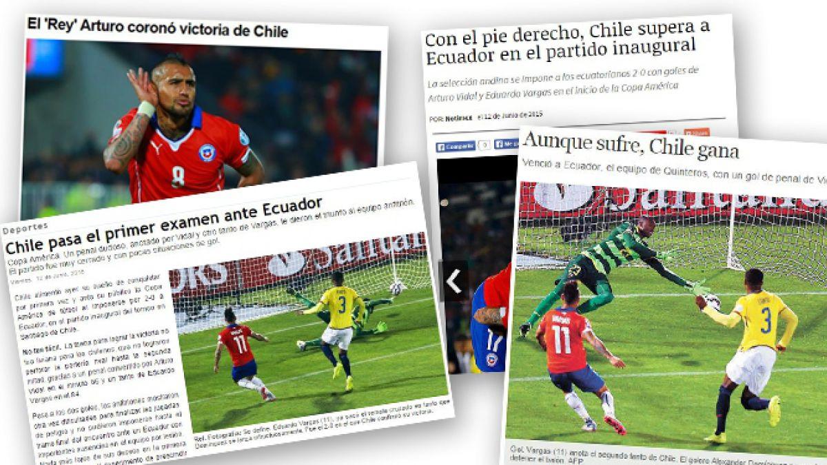 Prensa mexicana destaca difícil trámite del partido para Chile y apunta a penal dudoso