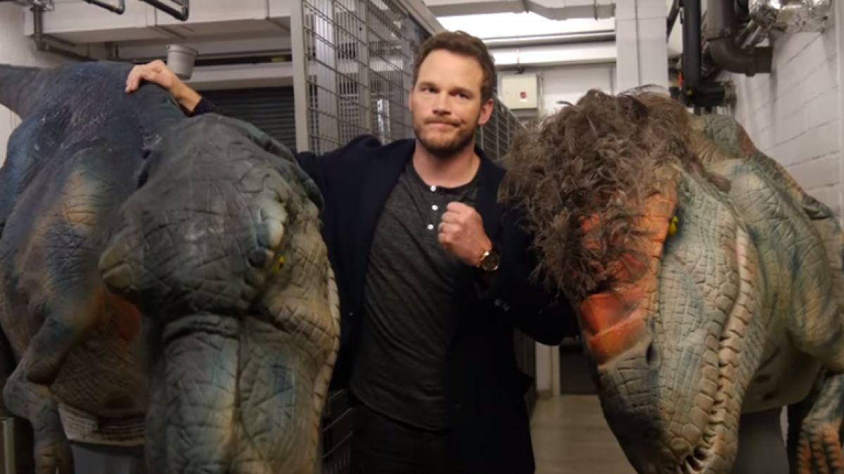 [VIDEO] Protagonista de Jurassic World se lleva el susto