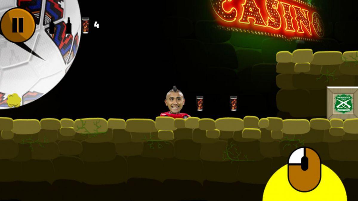 El Rey de Copas: El juego que parodia el accidente de Arturo Vidal