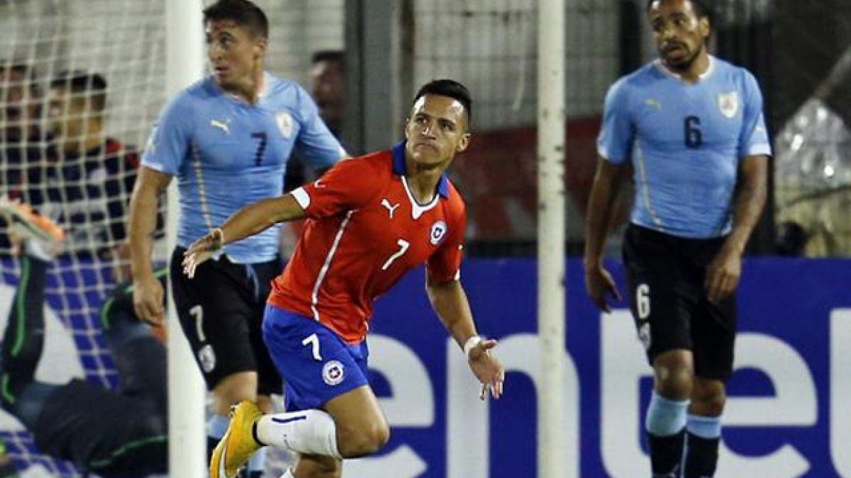 [Interactivo] Todos los números de los duelos entre Chile y Uruguay