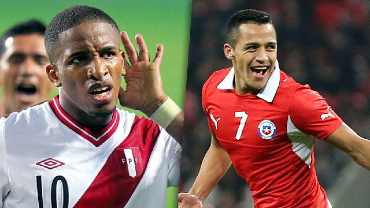 Interactivo con los precios de los jugadores de las plantillas de Chile y Perú