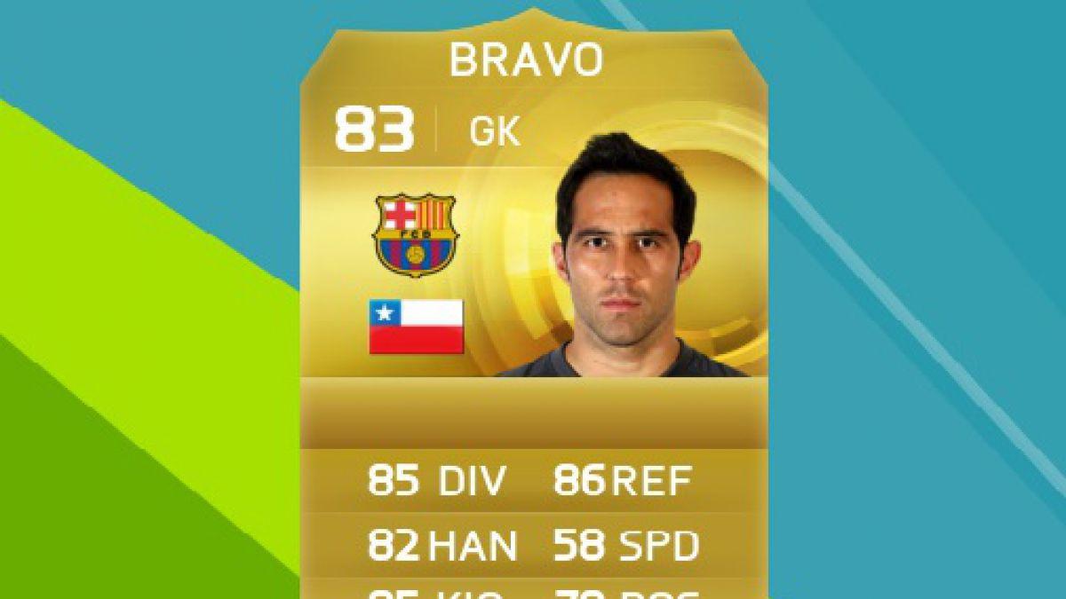 Claudio Bravo pierde la votación para ser rostro del FIFA 16