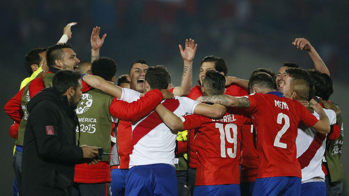 Chile celebra su paso a la final de la Copa América