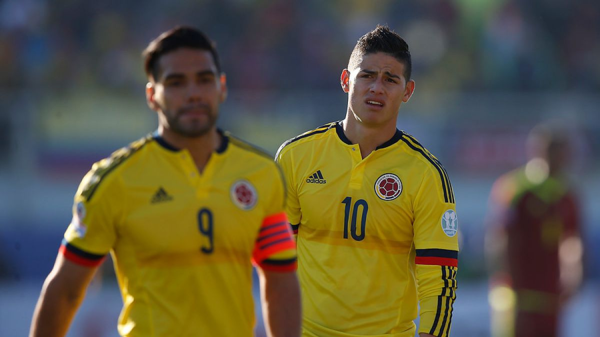 James Rodríguez y Radamel Falcao García