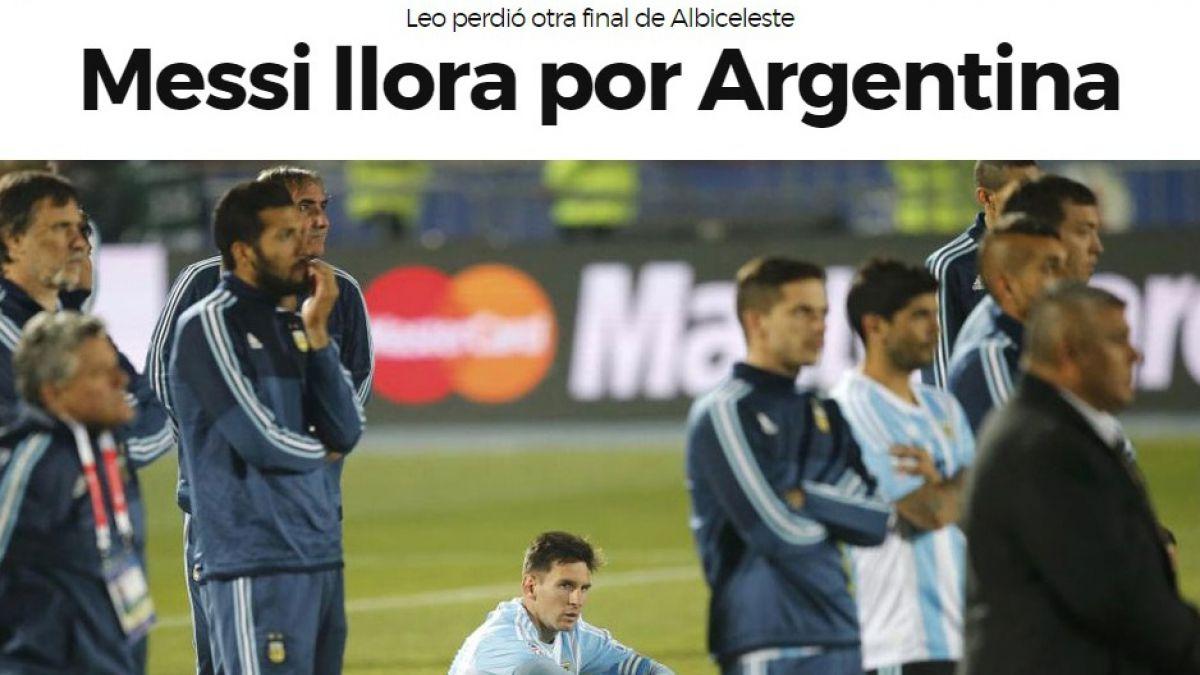 Portada Marca Lionel Messi Copa América