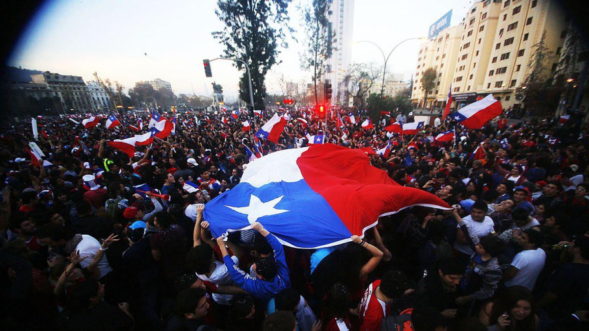 [VIDEOS] Así celebraron los hinchas chilenos el triunfo de la Copa América