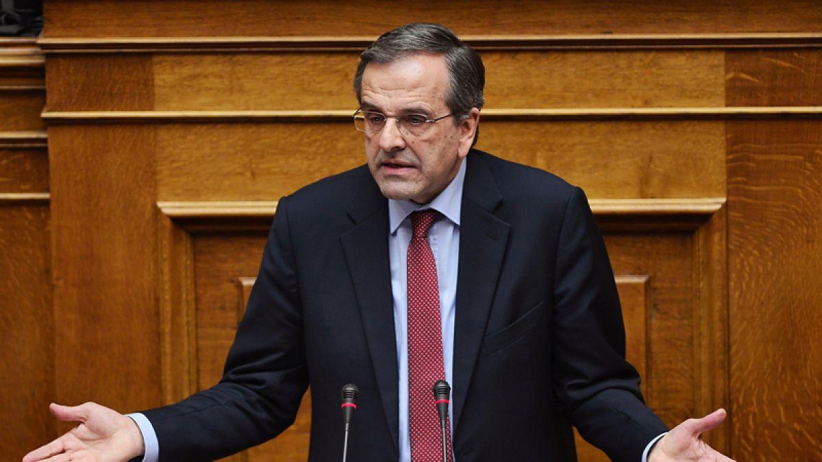 El jefe de oposición conservadora griega y ex primer ministro Samaras dimite