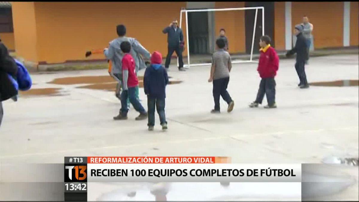 [VIDEO] Así es la Escuela Valdivia de Paine que recibirá la donación de Arturo Vidal