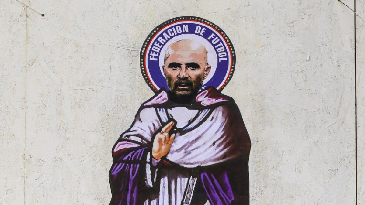 [FOTO] Dibujo callejero mostró a Sampaoli como un santo