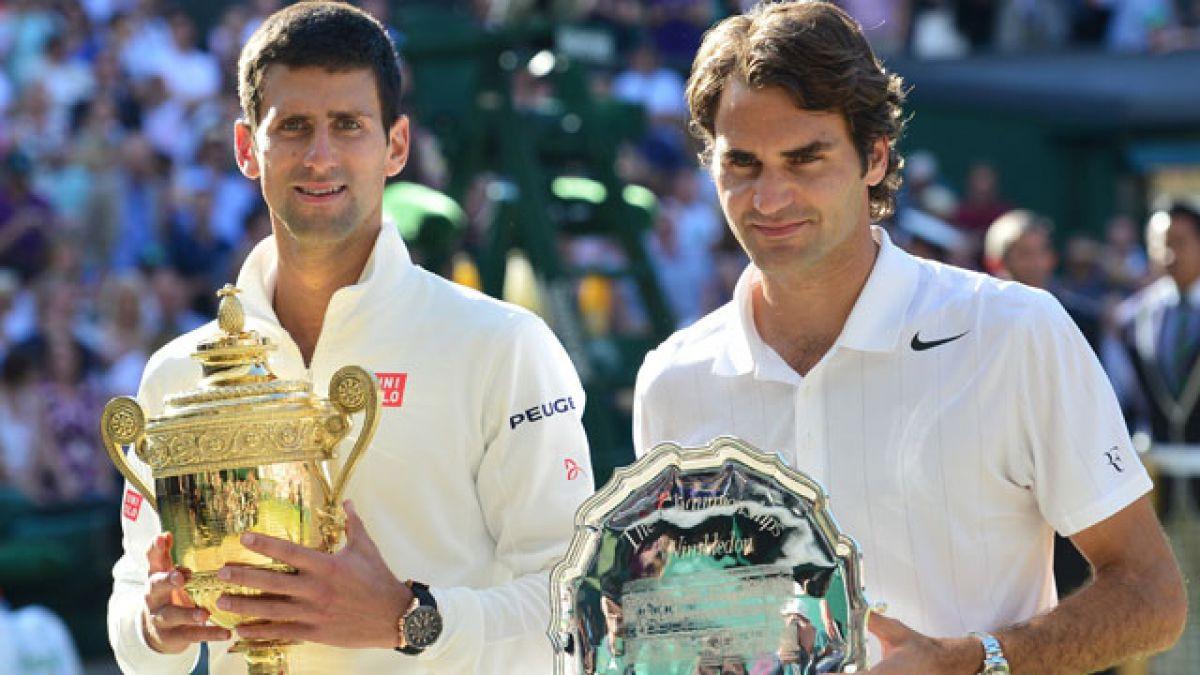 Final Wimbledon: La apretada estadística entre Federer y Djokovic