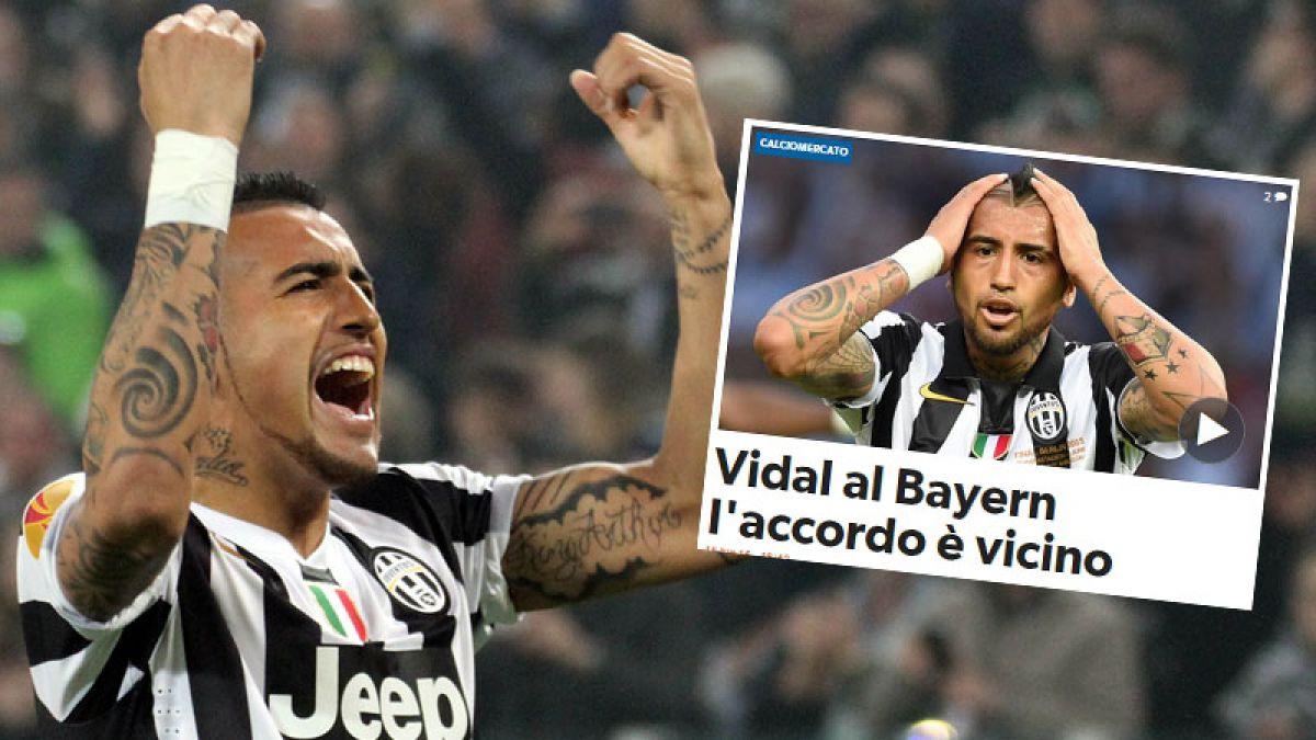 En Italia aseguran acuerdo entre Bayern Munich y Arturo Vidal