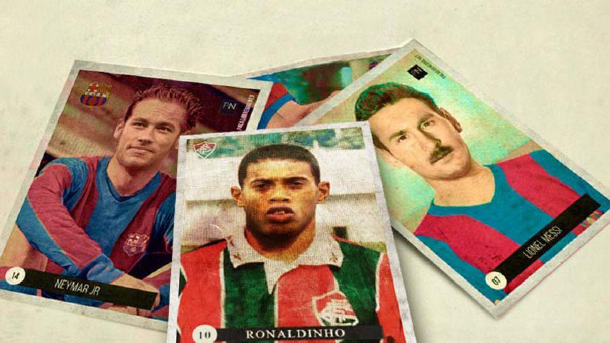 Así lucirían las estrellas del fútbol mundial si jugaran en el pasado