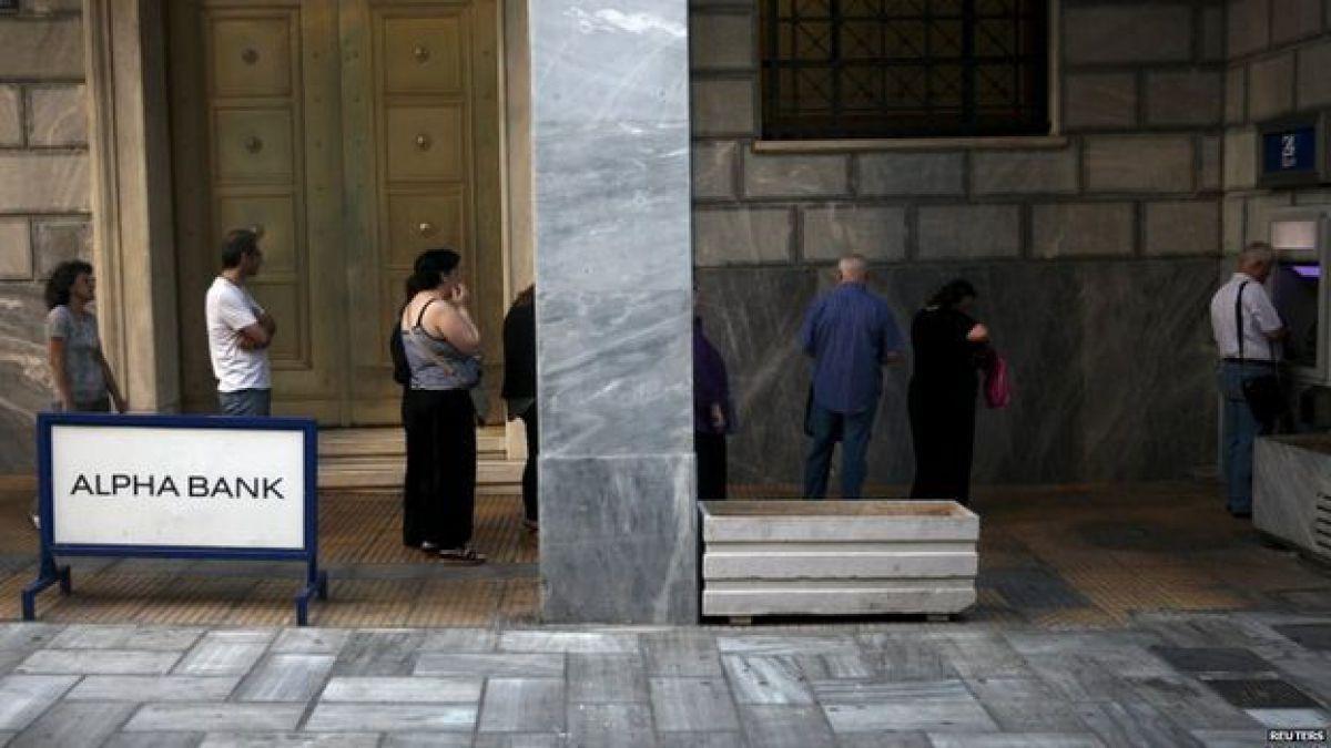 La bolsa de Atenas se hunde un 22% tras cinco semanas de cierre