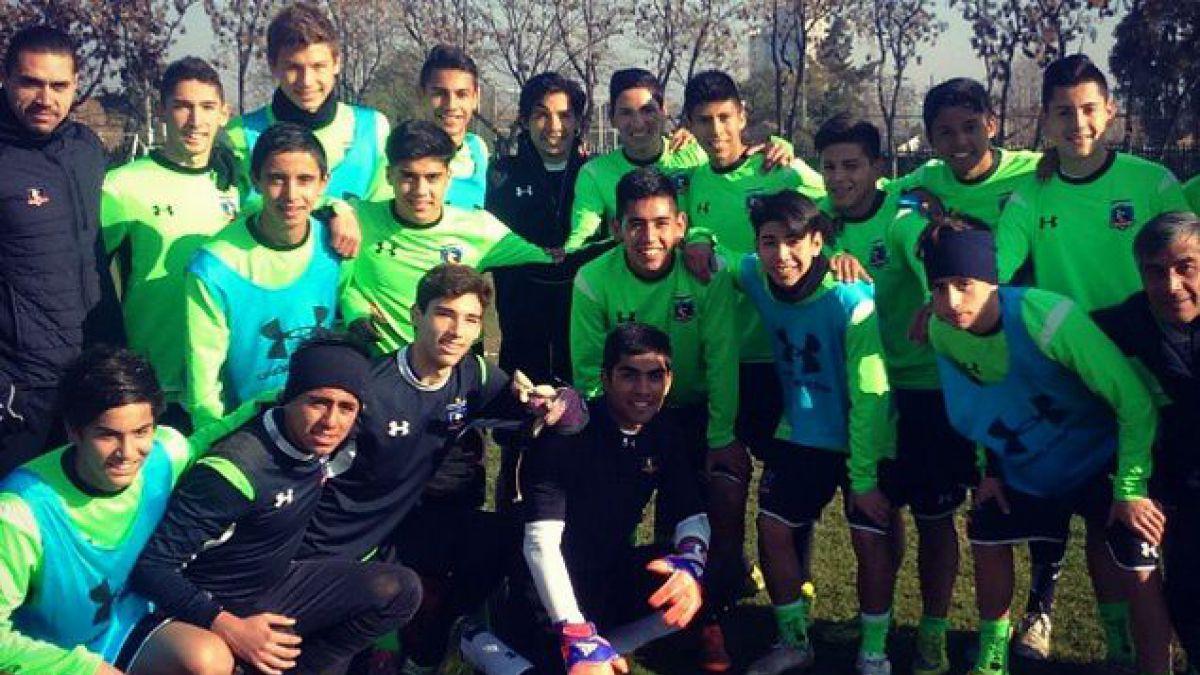 [FOTO] Matías Fernández entrena con la Sub 17 de Colo Colo