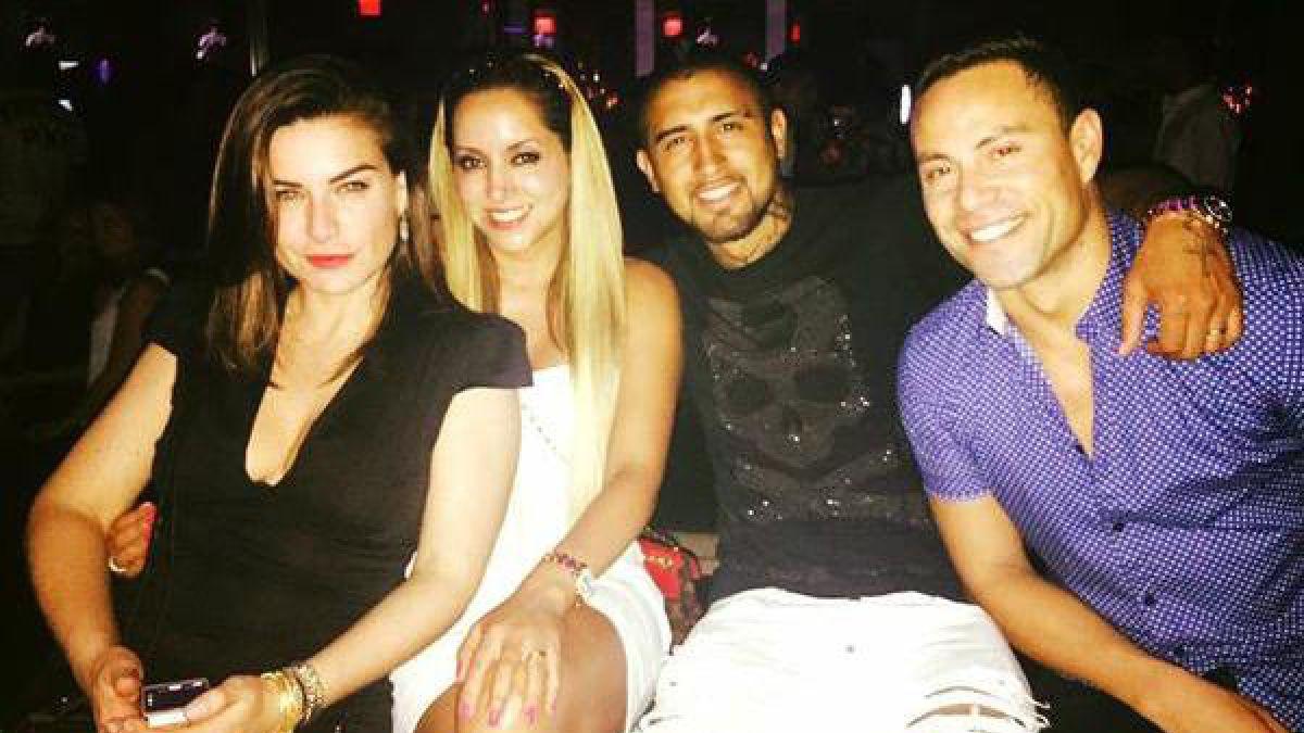 Arturo Vidal sigue disfrutando sus vacaciones en Miami