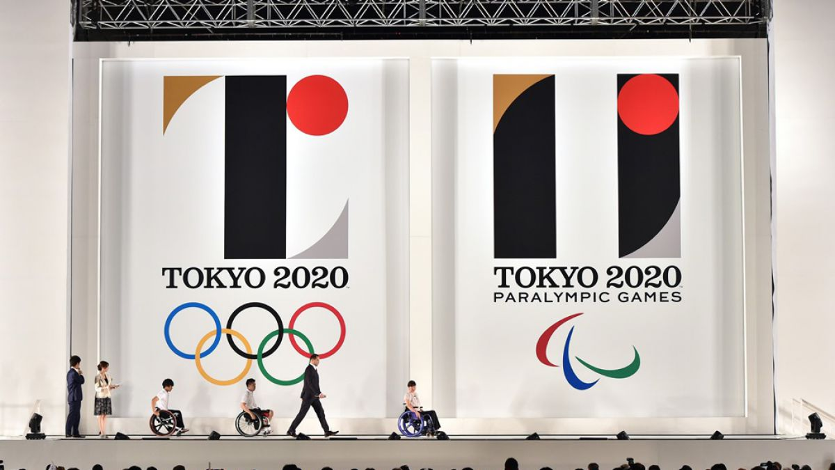 Los logos de los Juegos Olímpicos y Paralímpicos de Tokio 2020