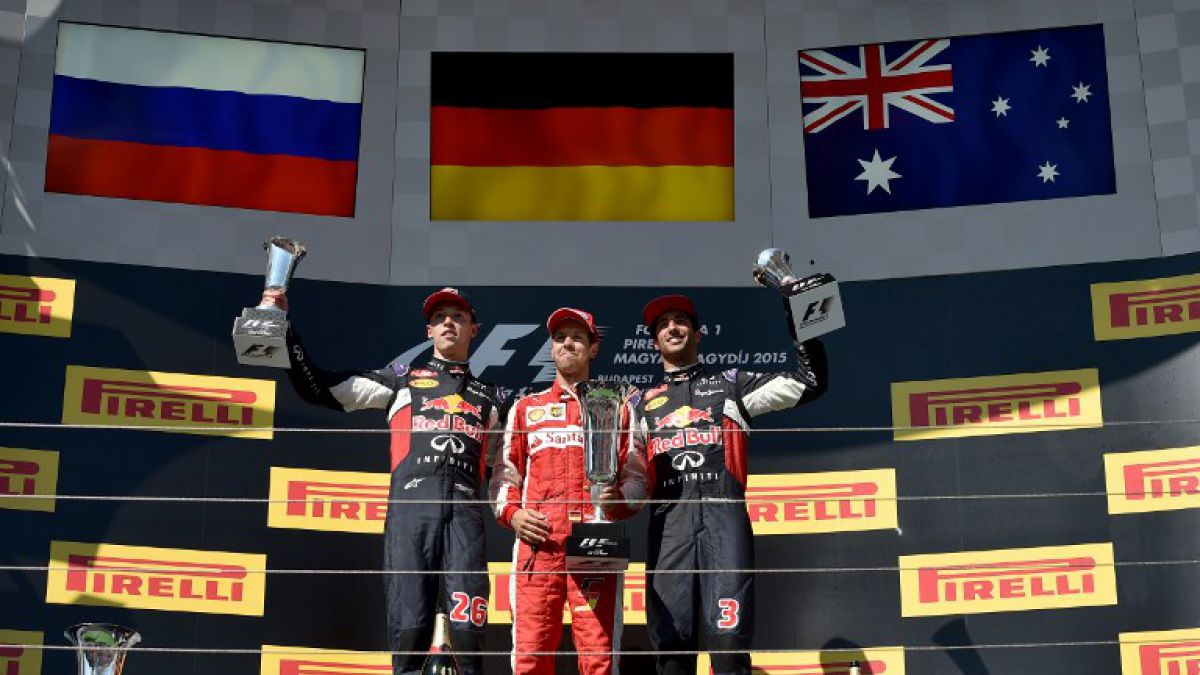 Vettel gana el GP de Hungría, Kvyat y Ricciardo completan el podio