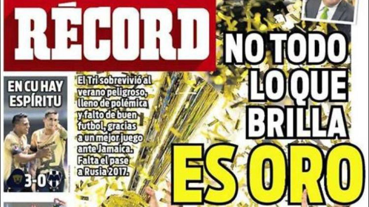[FOTOS] No todo lo que brilla es oro: Las portadas mexicanas tras el triunfo en la Copa de Oro