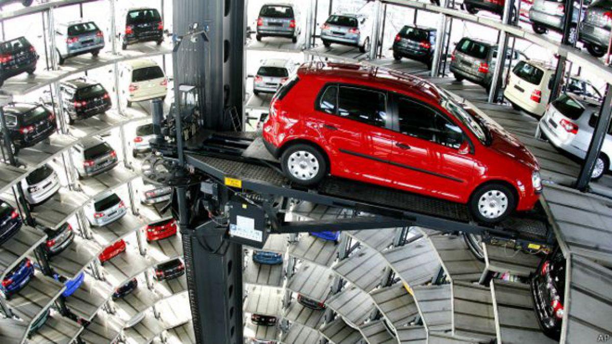 El depósito de autos de Volkswagen en Wolfsburgo, en el norte de Alemania.