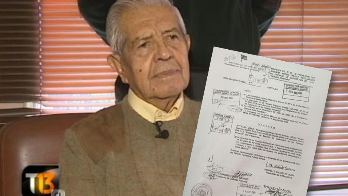 Decreto impide honores militares a Manuel Contreras