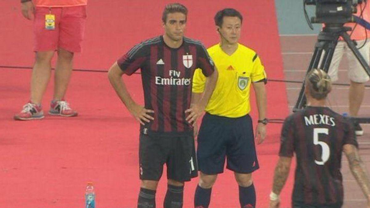 [VIDEO] Delantero del Milán jugó cinco segundos ante el Real Madrid