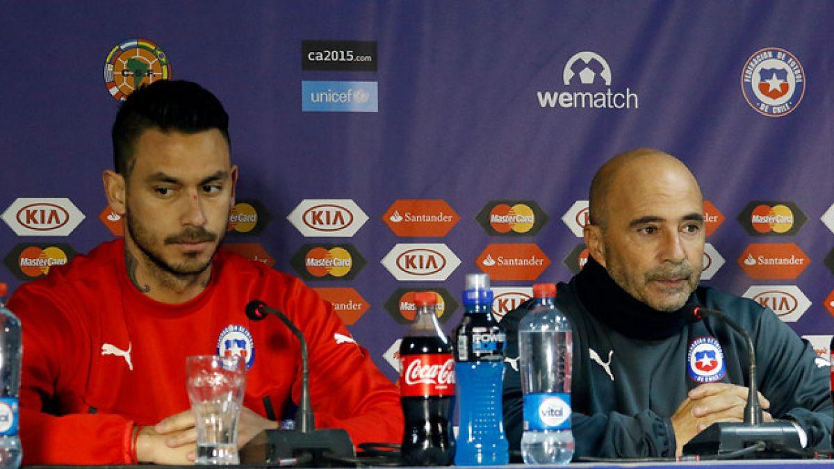 """Pinilla sobre Sampaoli: """"Nadie es indispensable, pero sería una lástima que dejara la selección"""""""