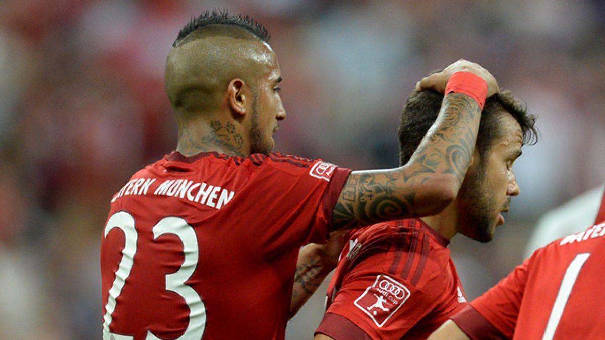 El Bayern de Vidal supera con categoría al Milan