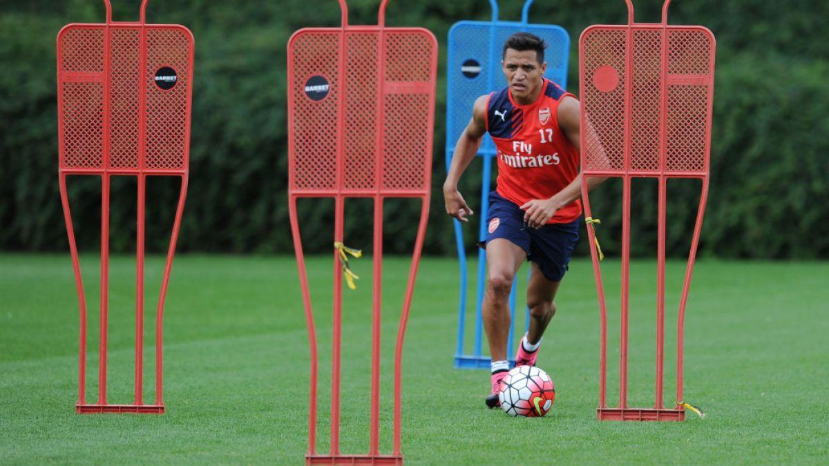 [FOTOS] Alexis está de vuelta en los entrenamientos de Arsenal FC