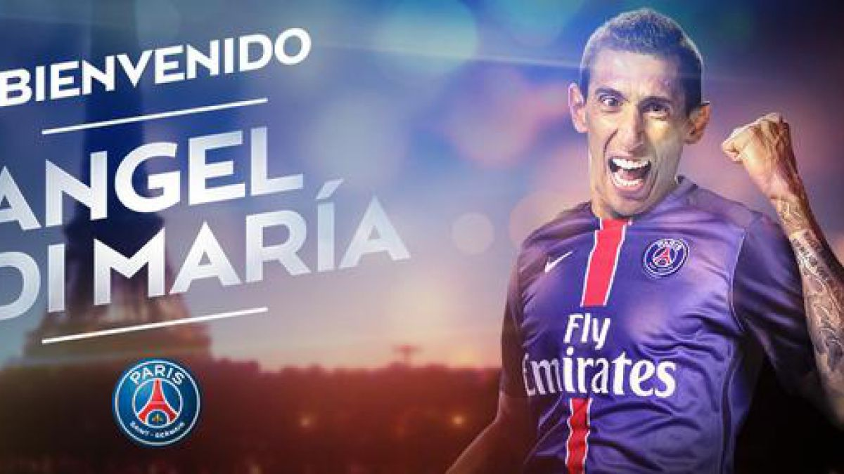 Ángel Di María firma por cuatro años con el París Saint-Germain