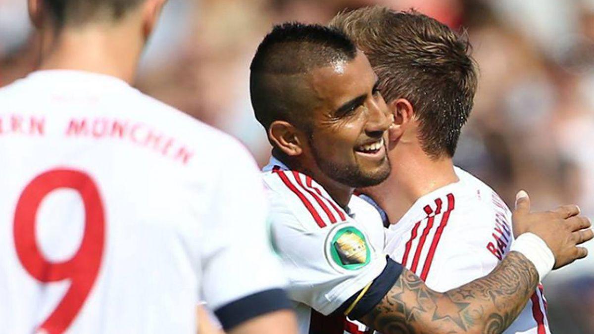 Bayern Munich celebra en la Copa de Alemania con gol de Arturo Vidal