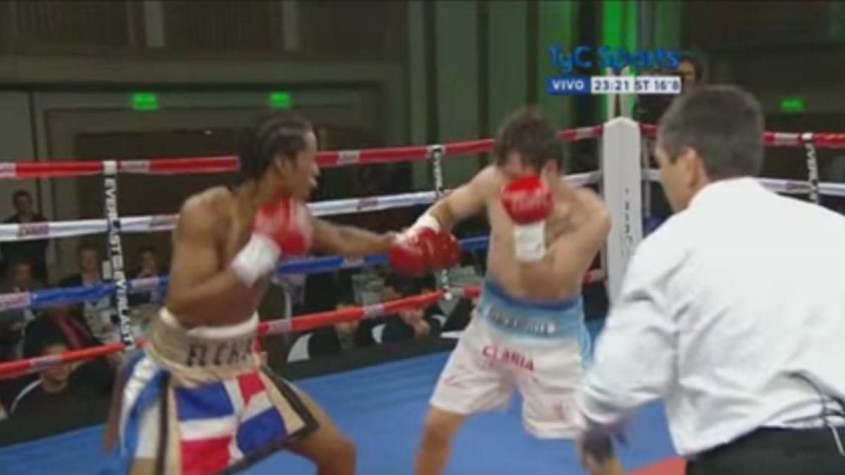 [VIDEO] ¿Hubo o no golpe?: El polémico nocaut de un boxeador argentino