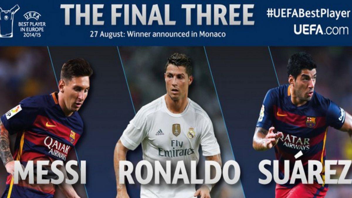 UEFA nomina a Messi, Cristiano y Suárez como candidatos a Mejor Jugador del año