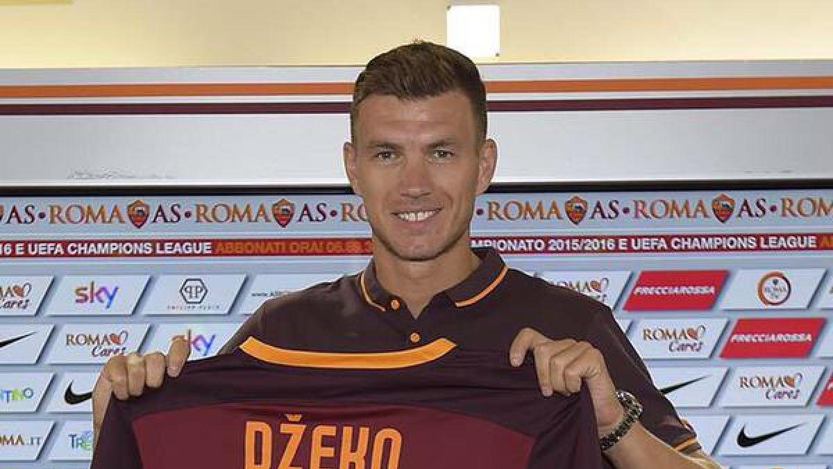 Edin Dzeko se integra a la Roma tras dejar el Manchester City