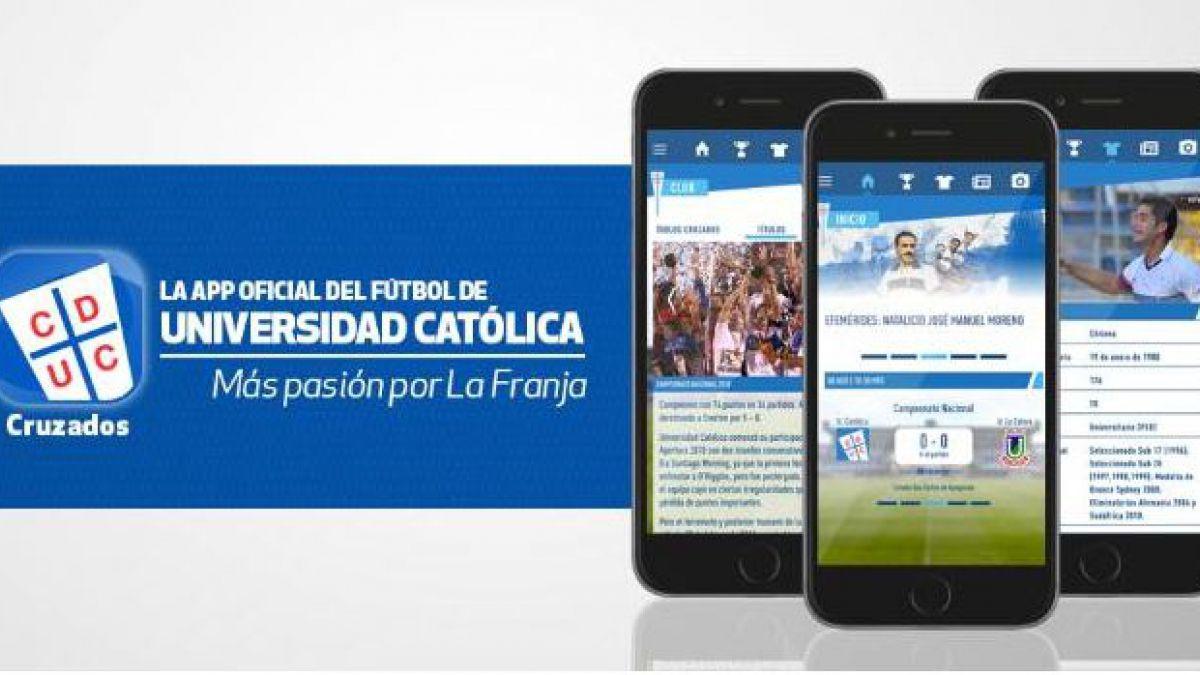 Universidad Católica lanza aplicación móvil pensada en sus hinchas