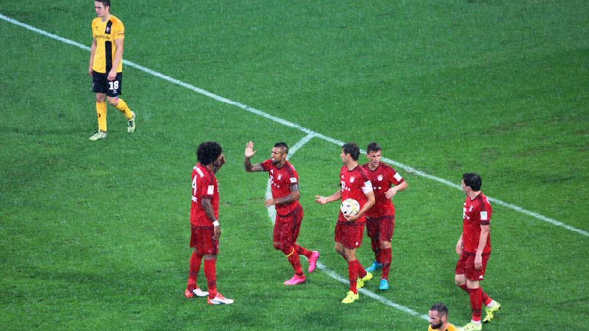 Arturo Vidal anota en encuentro amistoso del Bayern Münich