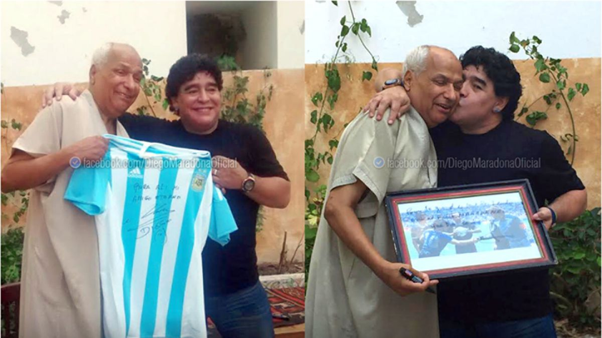 Maradona se reencuentra con el árbitro que no vio la mano de Dios y le pide disculpas