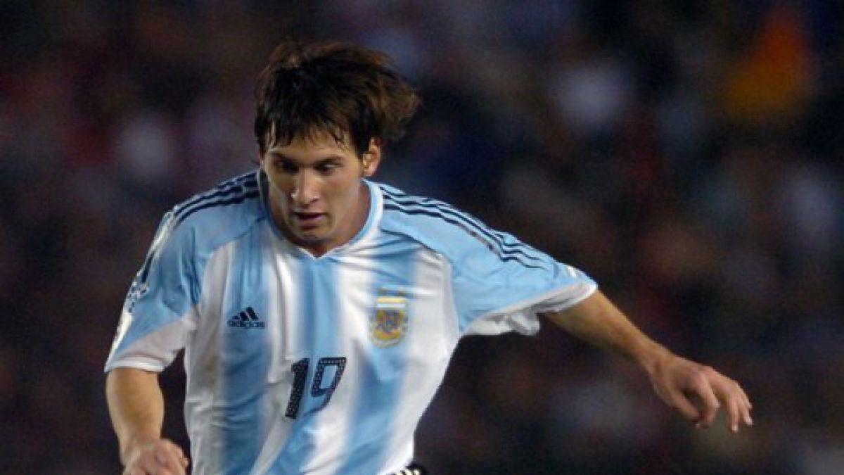 Lionel Messi debutó hace diez años con la Selección adulta de Argentina