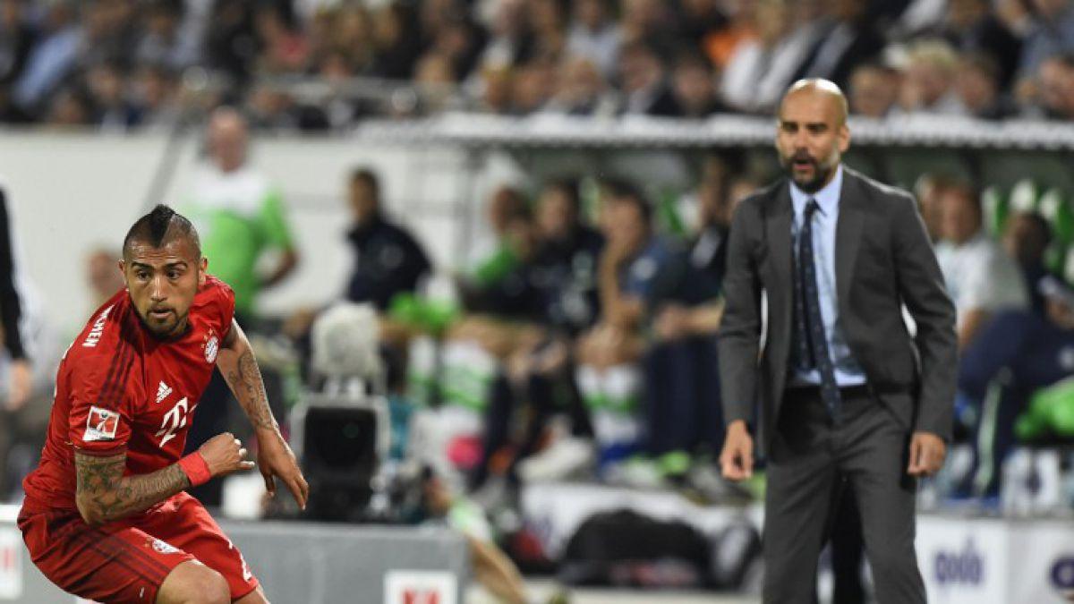 Arturo Vidal y Josep Guardiola