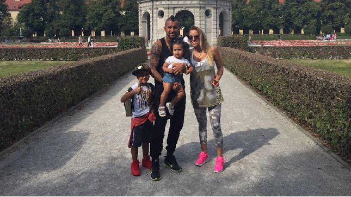 [FOTO] Arturo Vidal se relaja junto a su familia tras triunfo sobre Hoffenheim