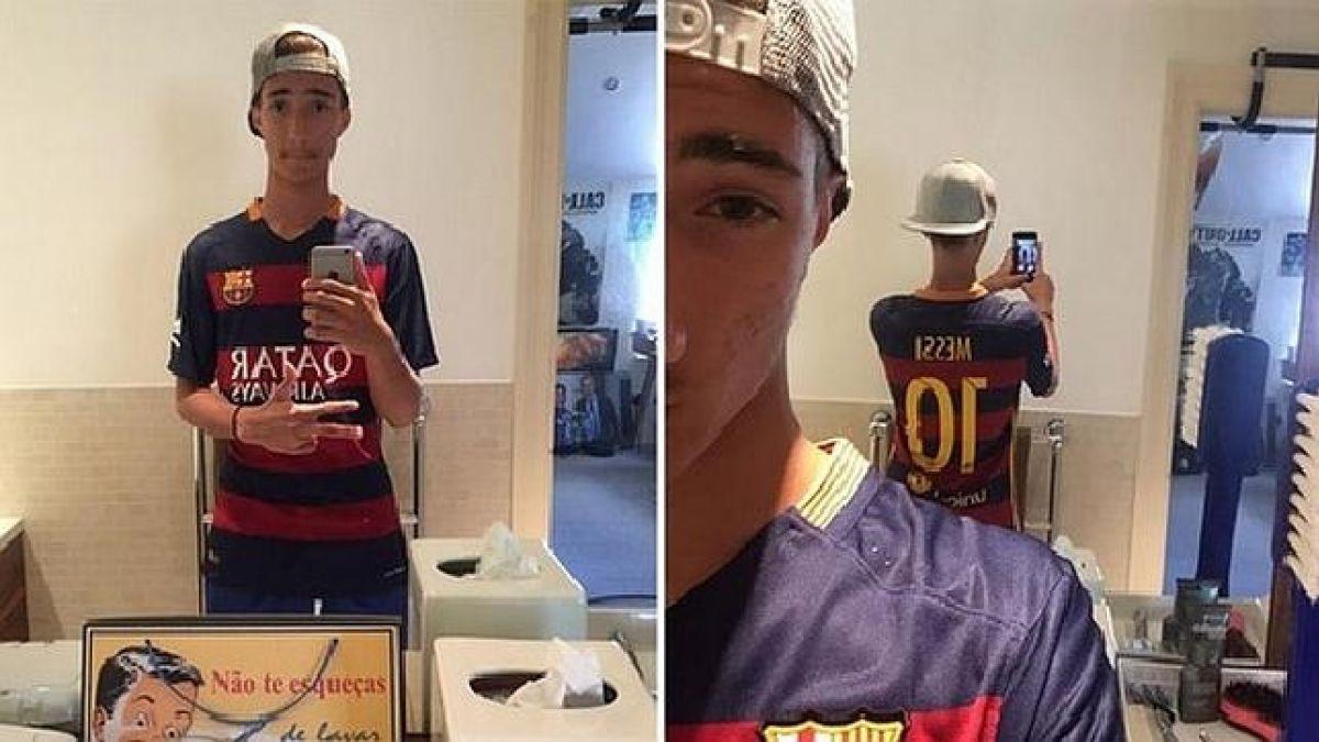 Hijo de Mourinho vuelve a demostrar su fanatismo por Messi
