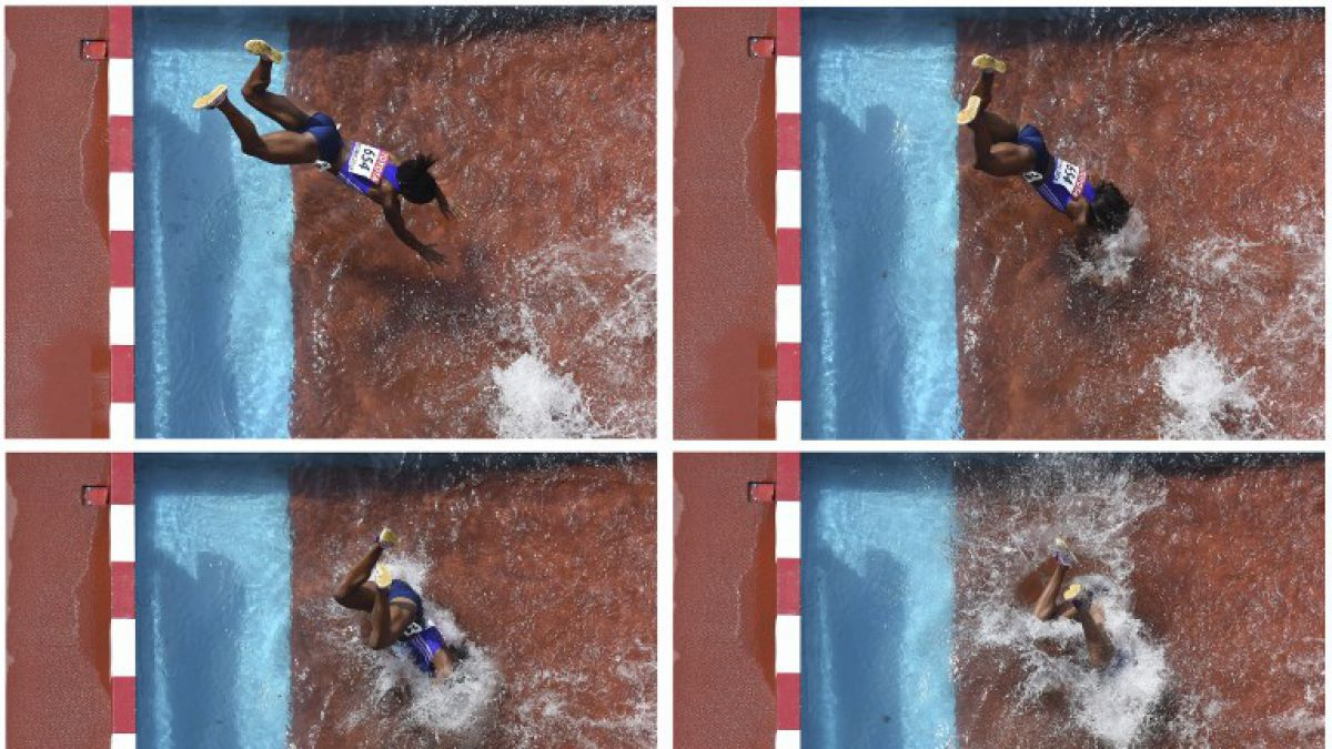 Atleta panameña sufre espectacular caída en el agua en Mundial de Beijing