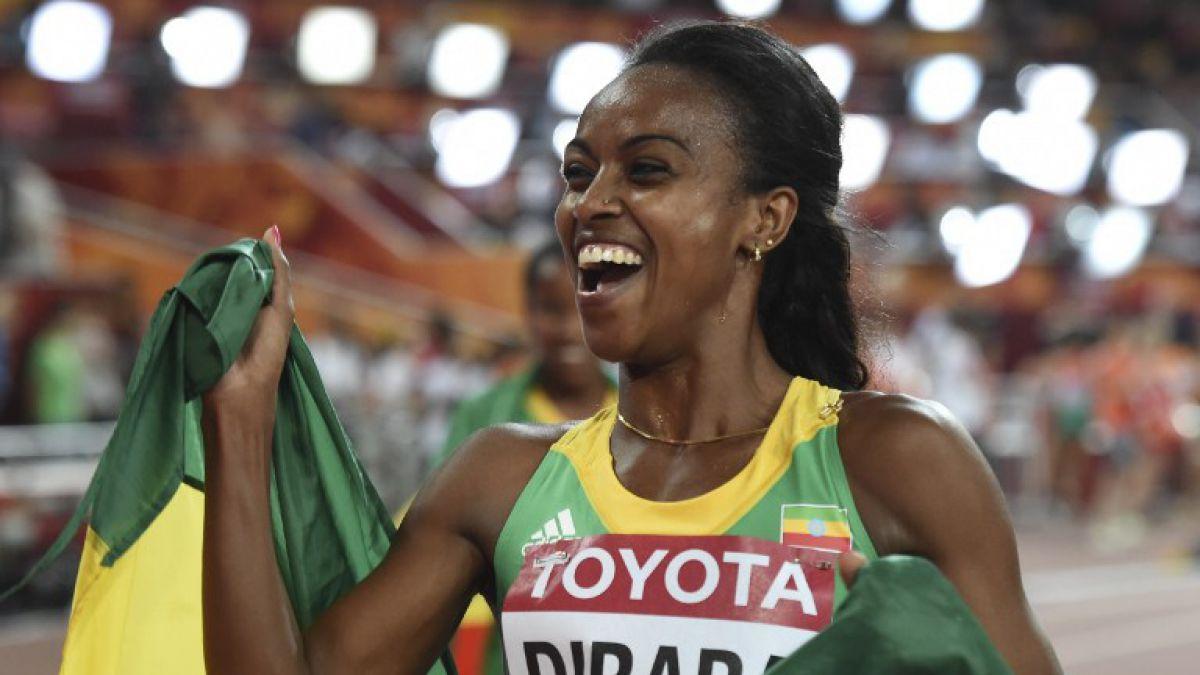 La etíope Dibaba logra título en 1.500 metros planos y va por nuevo oro en 5.000