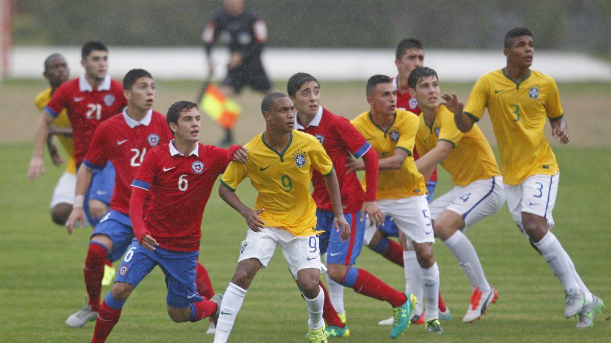 """La """"Roja"""" Sub 17 cae ante Brasil en duelo preparatorio rumbo al Mundial"""